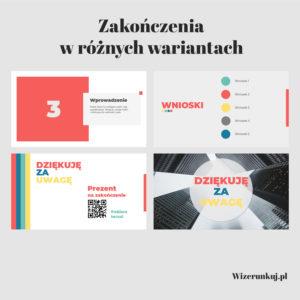 Szablon prezentacji Power Point - colorful - 40 slajdów