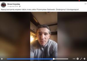 Przemysław Sadowski - słowa krzywdzą