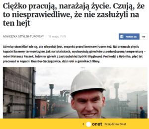Publikacja w Onet.pl - Mateusz Paszek