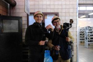 Mateusz Paszek i Mateusz Szczepara podczas realizacji spotu video