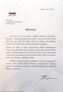 Referencje Portu Sztuki po owocnej współpracy z wizerunkuj.pl