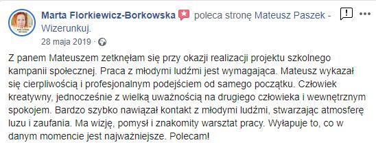 opinia współpracy zwizerunkuj.pl