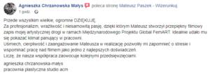 Opinia współpracy - wizerunkuj.pl