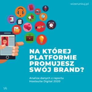 Na której platformie promujesz swój brand?