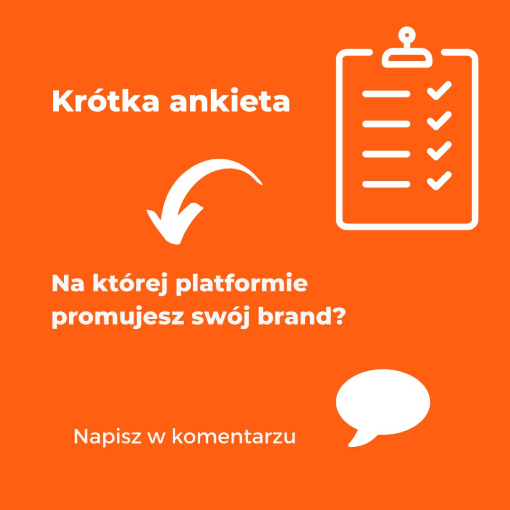Na którejplatformie promujesz swój brand?